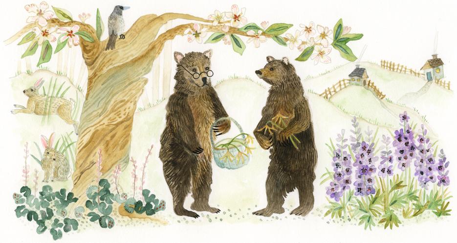 """Grandparents of the Forest"" website header art"