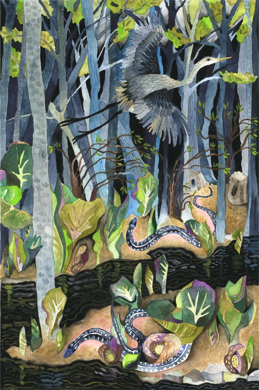 """Blue Heron Blue Snakes"""