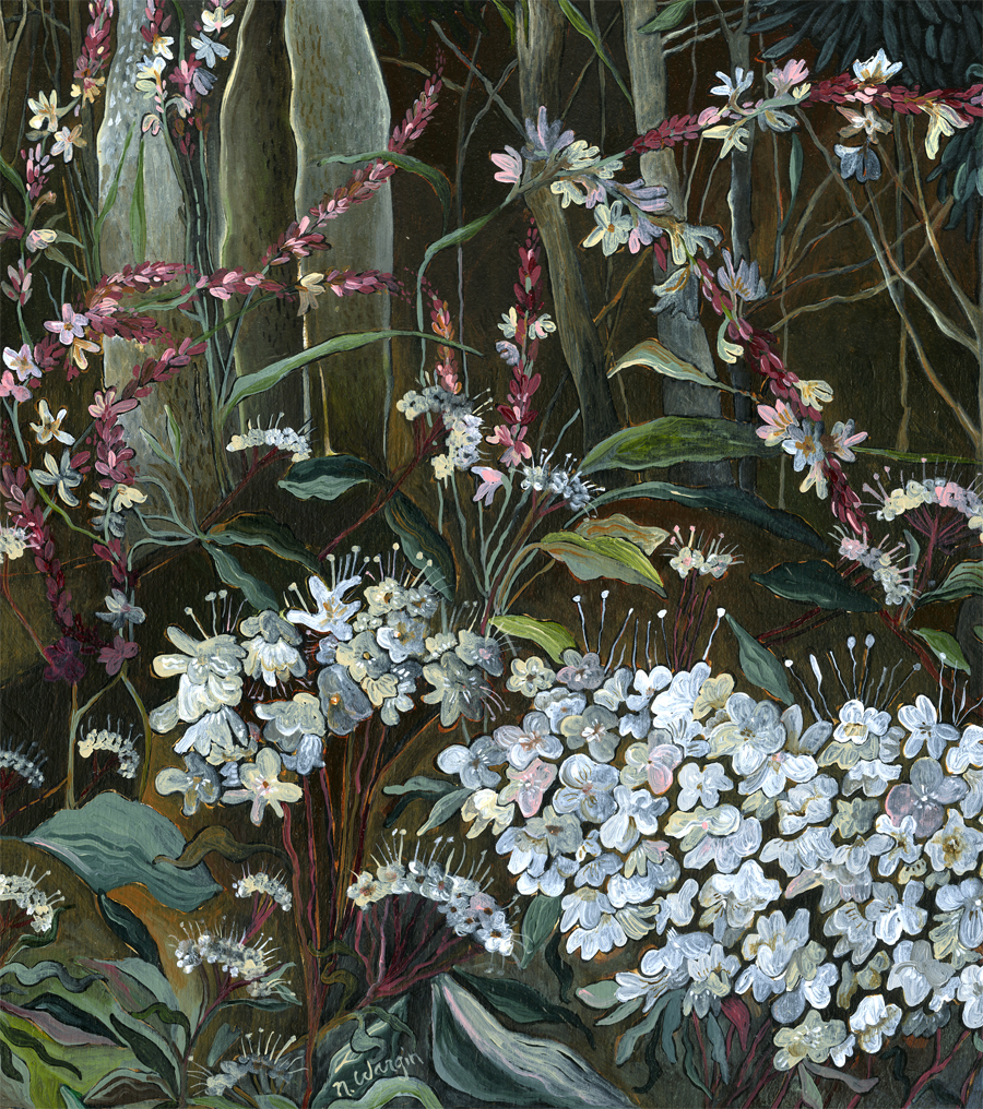 """Button Plants and Wood Ducks"" detail"