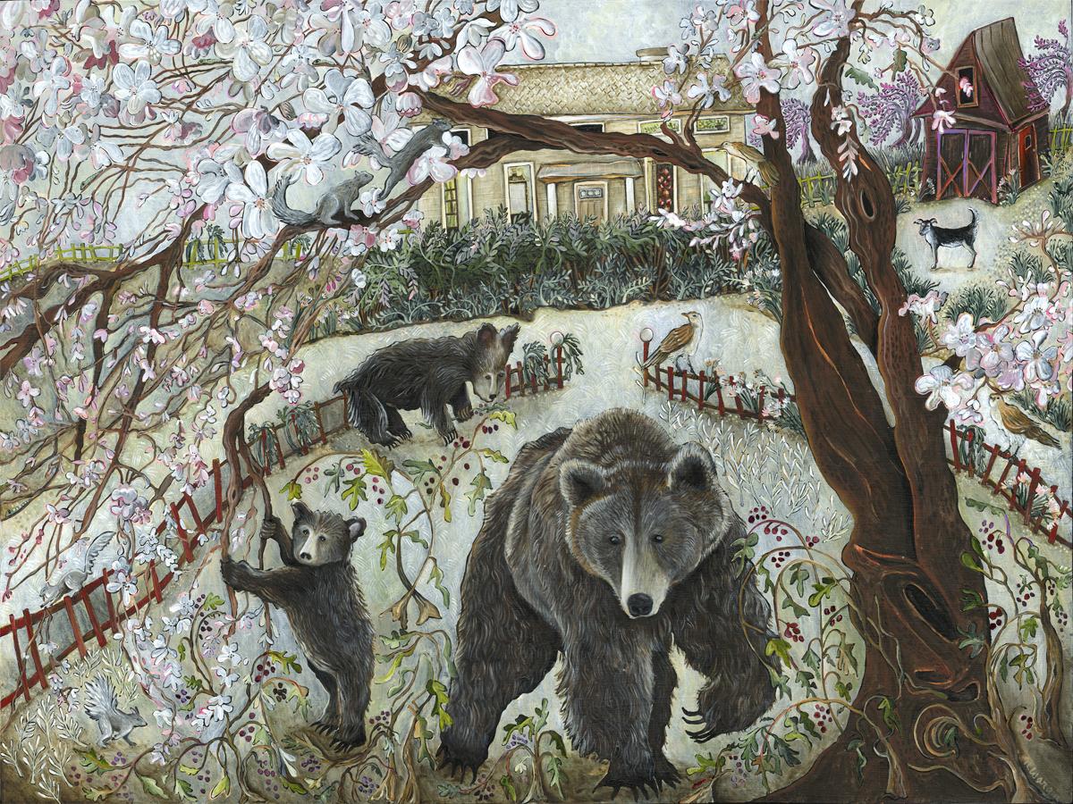 """Maggie"" 18"" x 24"" Acrylic on birch panel $2200."