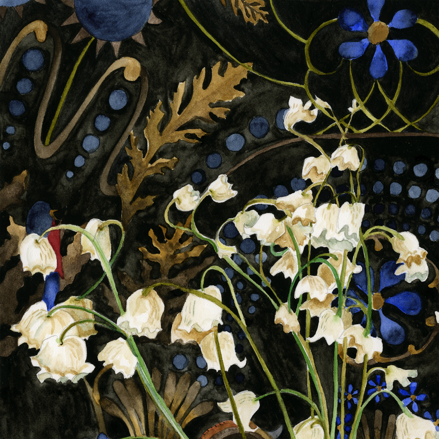 """Lily of the Valley"" detail."