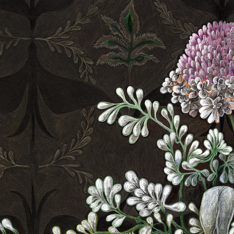 """Eucalyptus and Thistle"" detail."