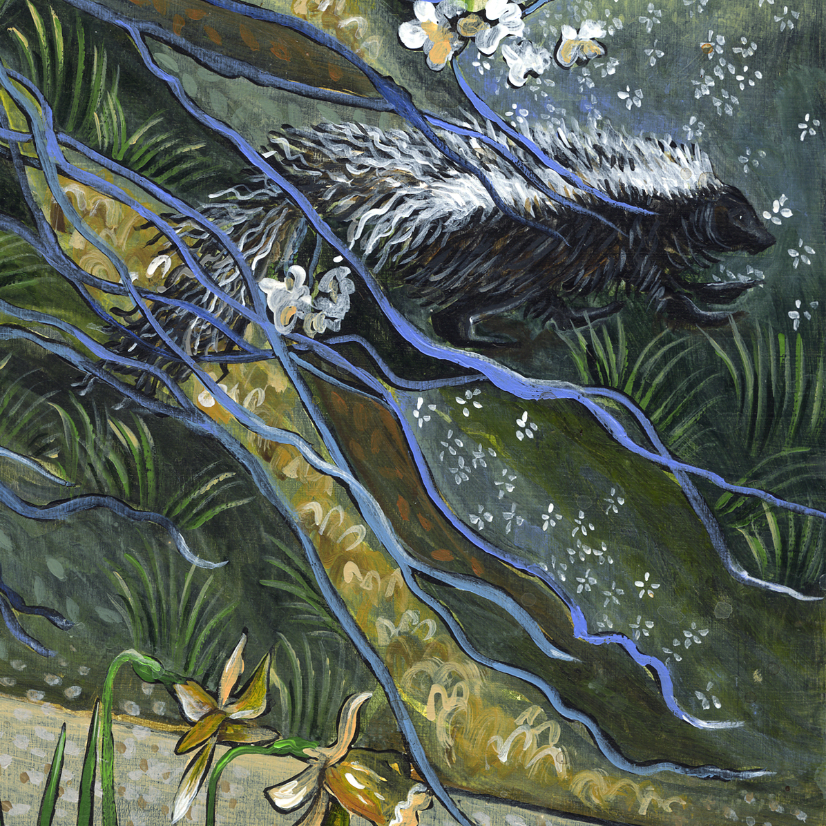 """Peaceable Kingdom. The Animals"" detail."