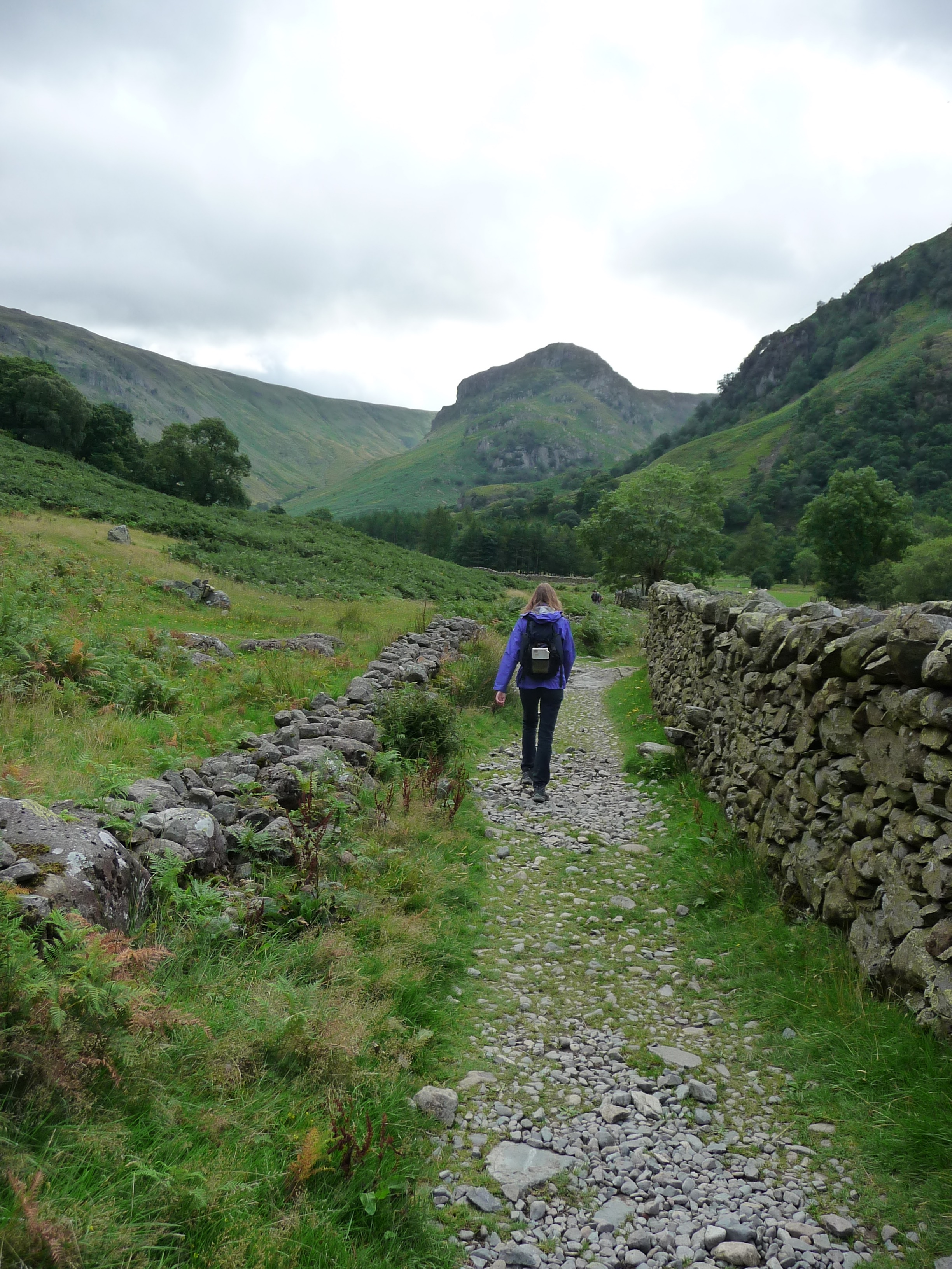 Strolling over the lower slopes