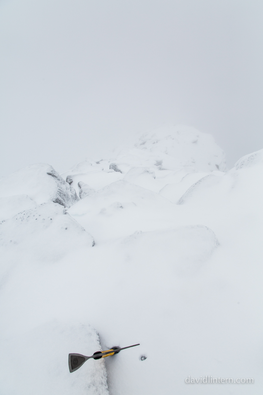 The start of a solo traverse of Beinn Eighe in mixed conditions: disconcerting - yes, photogenic - not really.