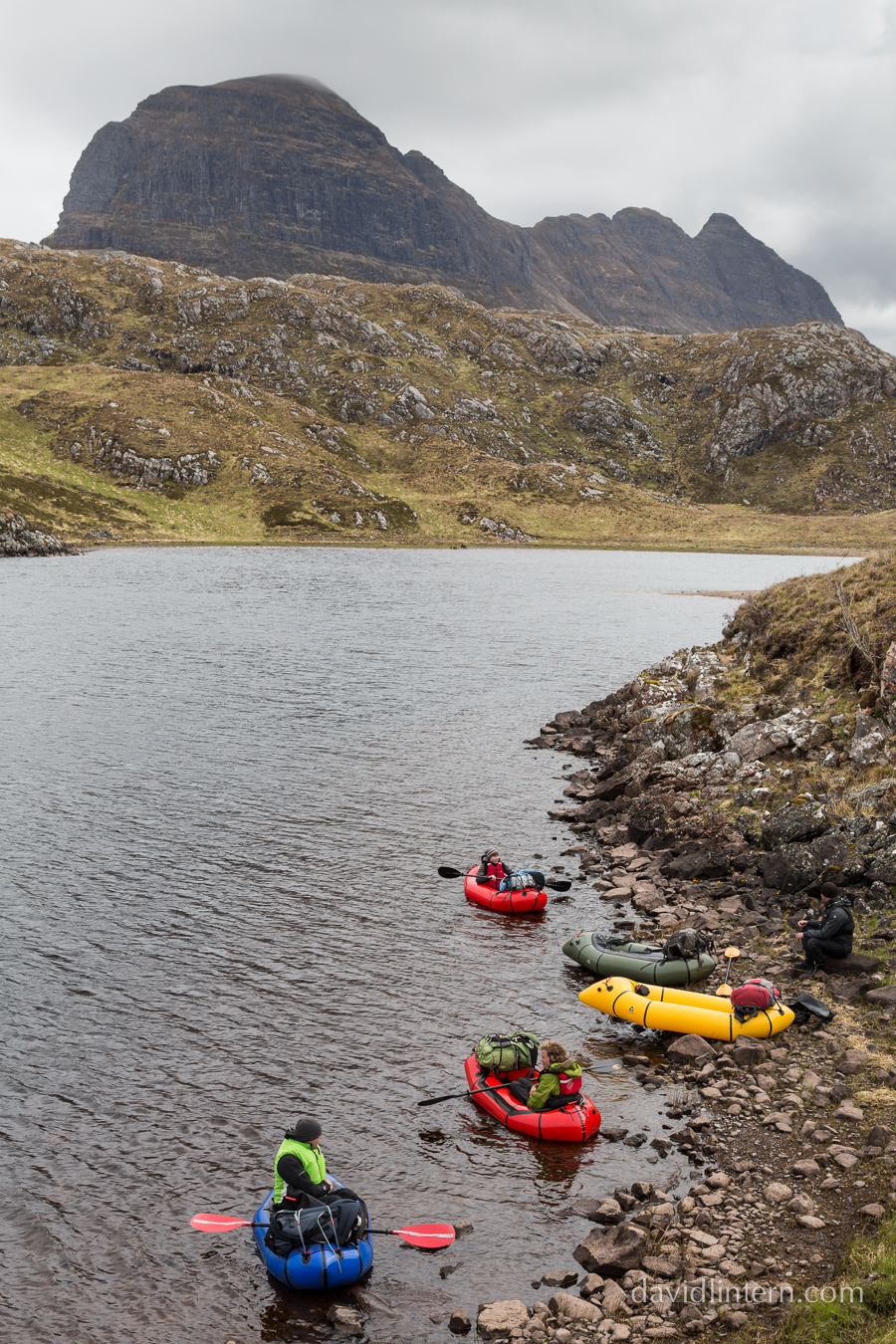 Discovering a new way to explore, with new friends under Suilven, Scotland
