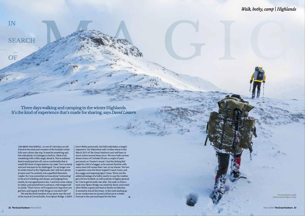 Feature, TGO magazine
