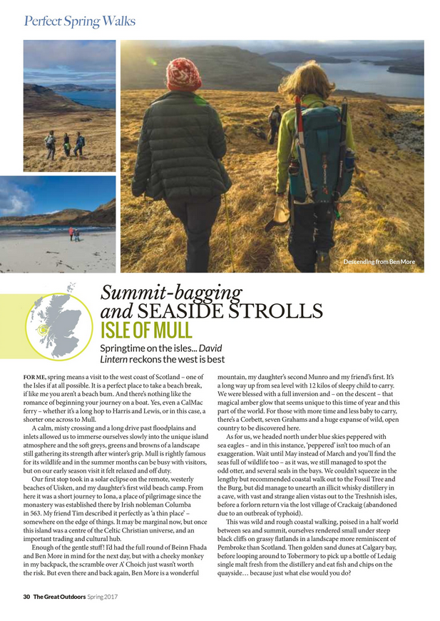 Feature section, TGO magazine