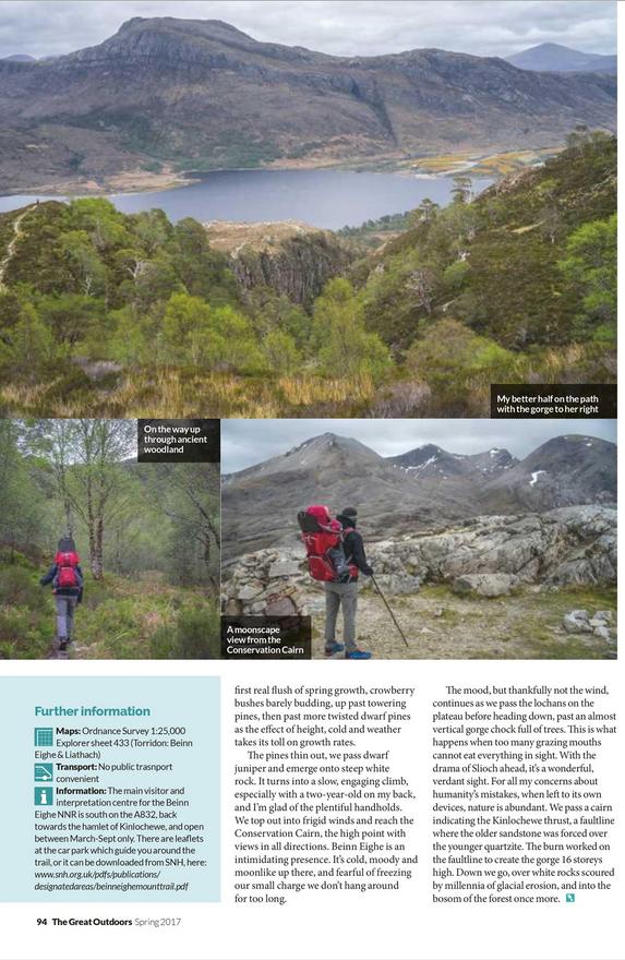 Wild Walk, TGO magazine
