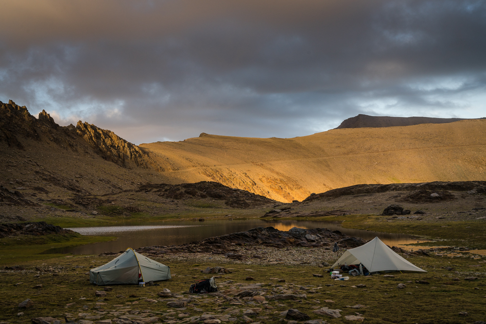 After that, conditions improved. Sunset on the lower flanks of the highest mountain in mainland Spain.