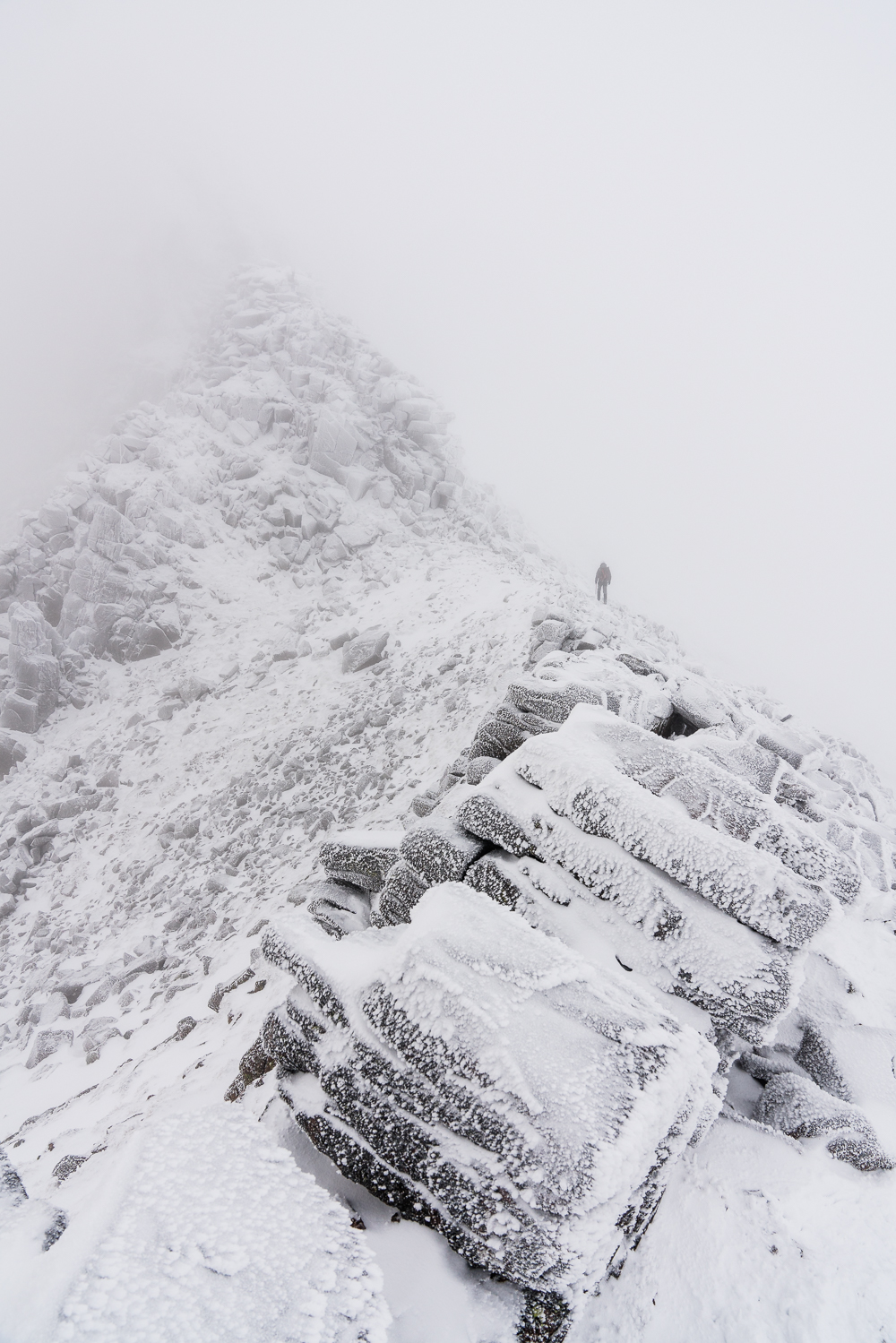 This Photo is from the Cairngorms. I don't think I've ever had great conditions here, and this is as close to a decent shot of the ridge as I've come. Suddenly, the angles slid into place, 'landscape' photography as movement.