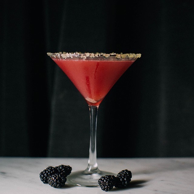Break up with you boring midweek routine and join us for a cocktail to get over the hump. Try Le Murmure, a delicious cocktail with rum, blackberry, lime and a gold sugar rim.