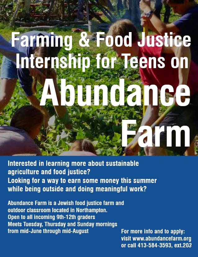 teen internship flyer