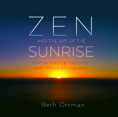 A book of sunrise photos and inspirational quotes