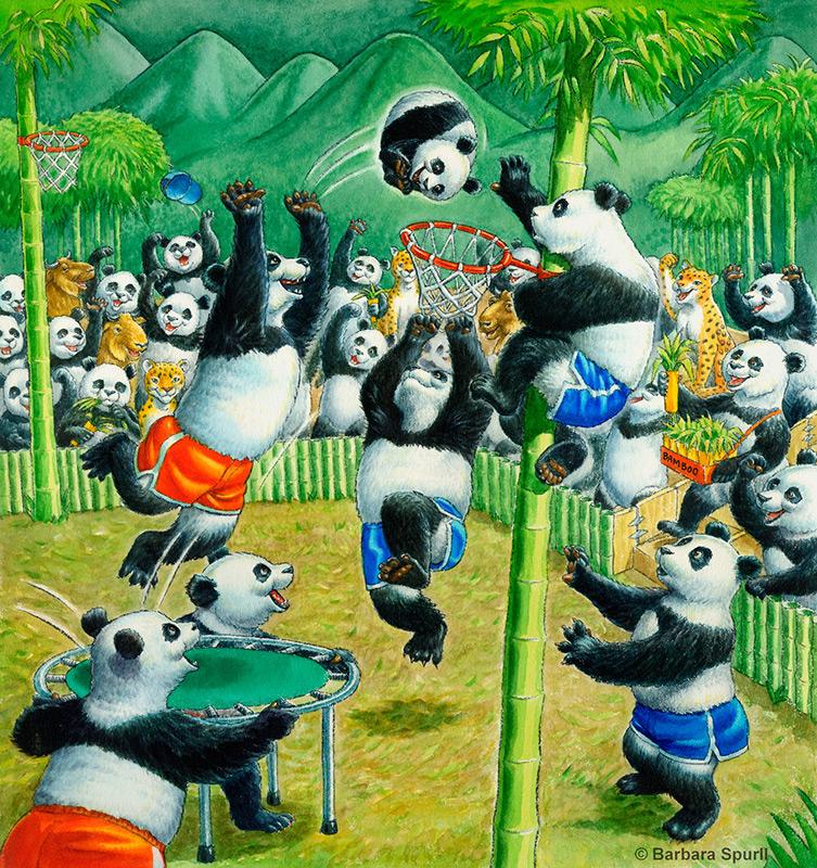 Imagine…If Pandas Played Basketball