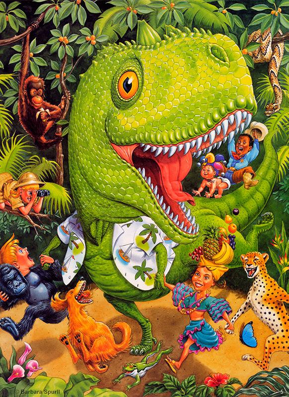 Dinosaur in the Jungle