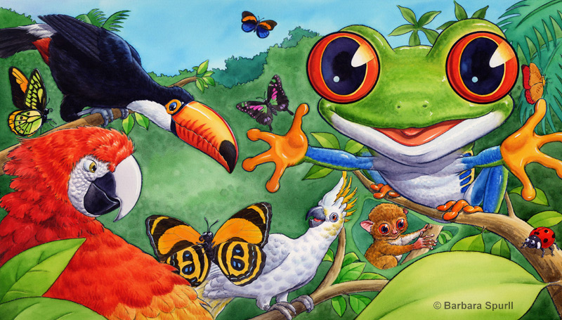 Red-eyed Tree Frog spread
