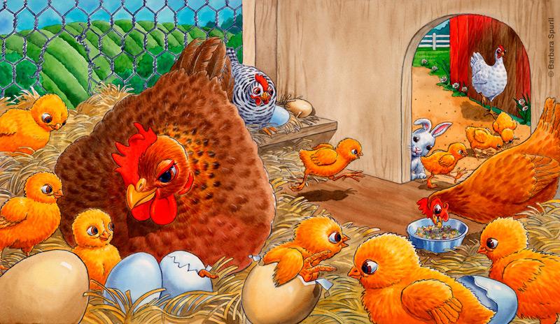 Big Eyes Chicken spread