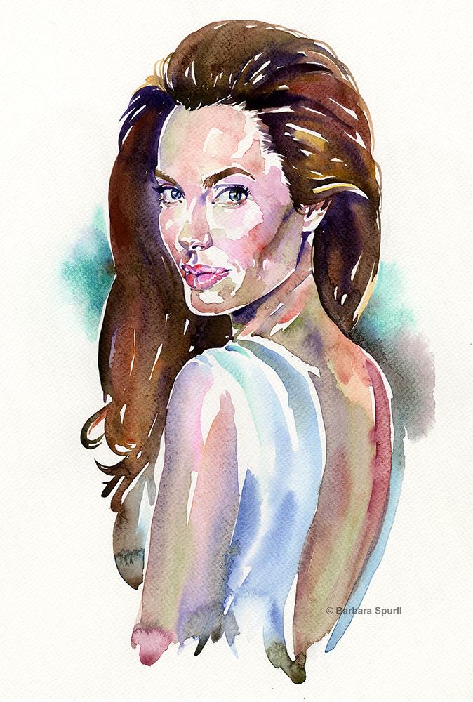 Angelina Jolie by Barbara Spurll