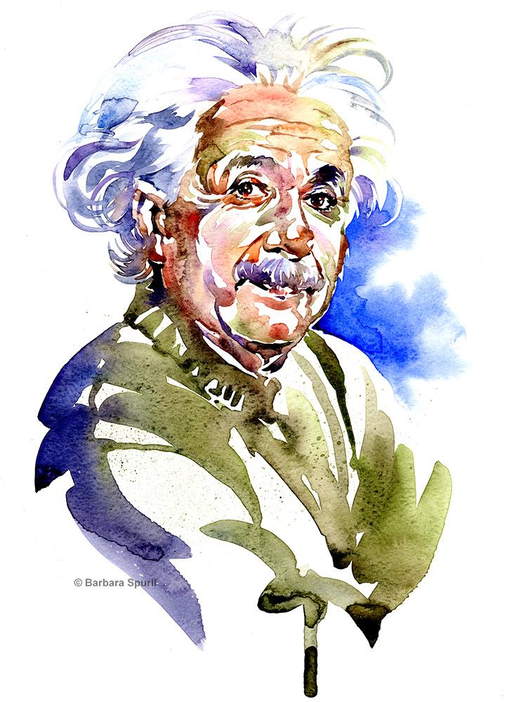Albert Einstein by Barbara Spurll
