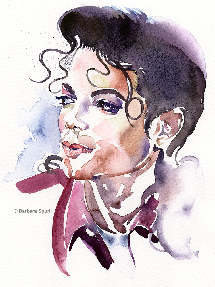 Michael Jackson by Barbara Spurll