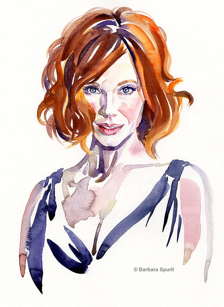 Christina Hendricks by Barbara Spurll