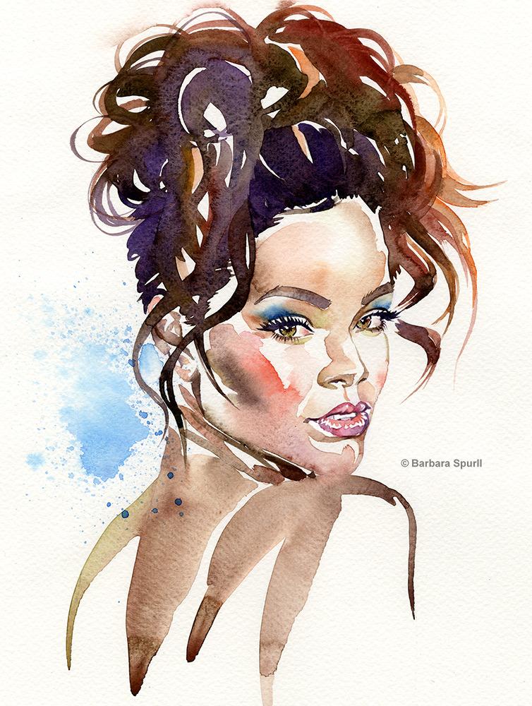 Rihanna by Barbara Spurll