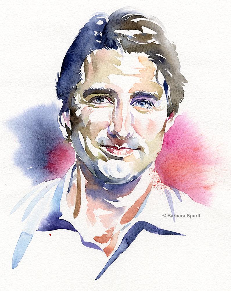 Justin Trudeau by Barbara Spurll