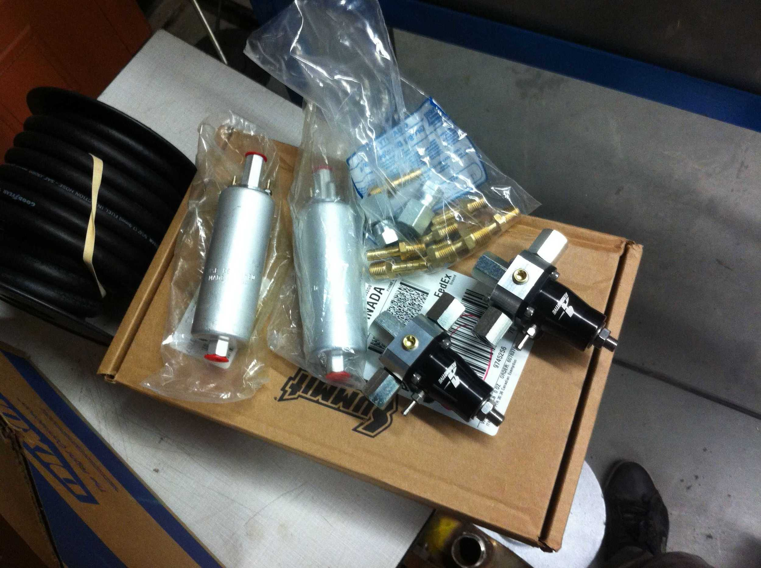 Fuel pumps and pressure regulators.