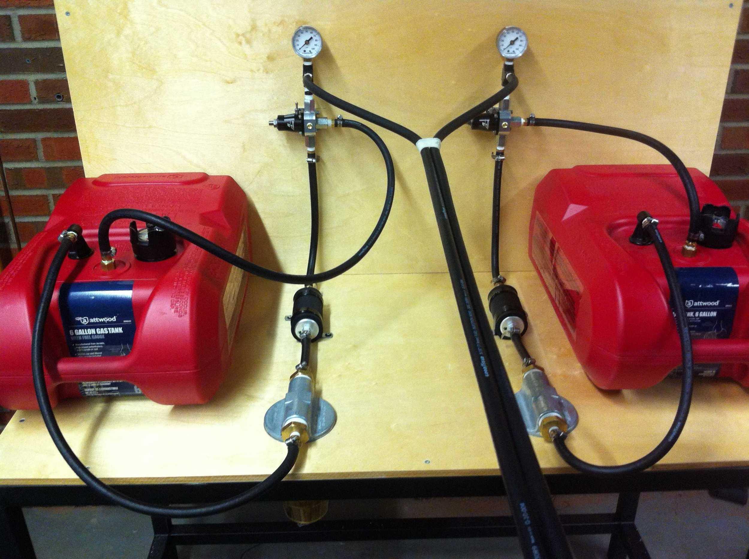 Fuel system assembled.