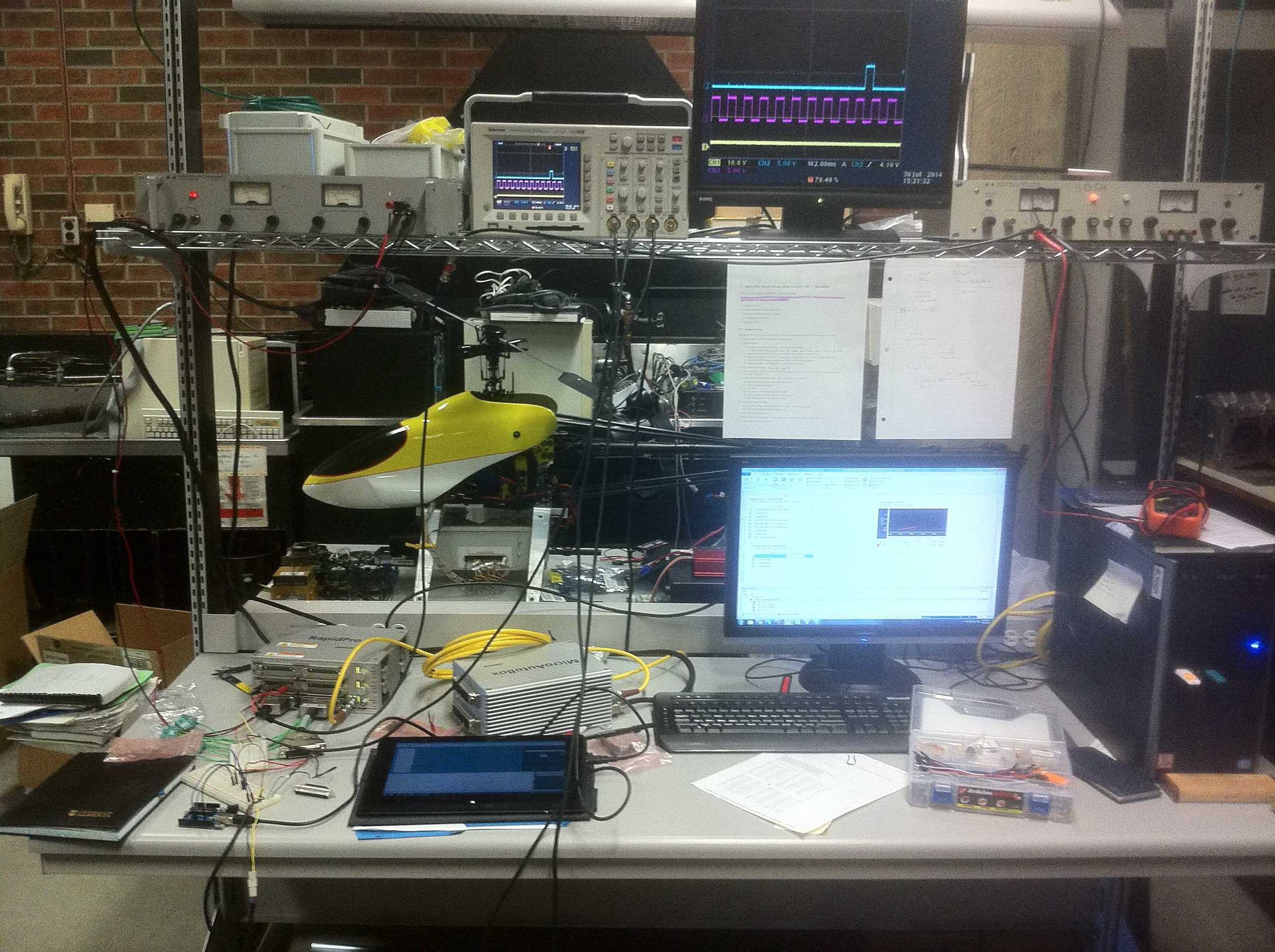 Lab setup at this point.