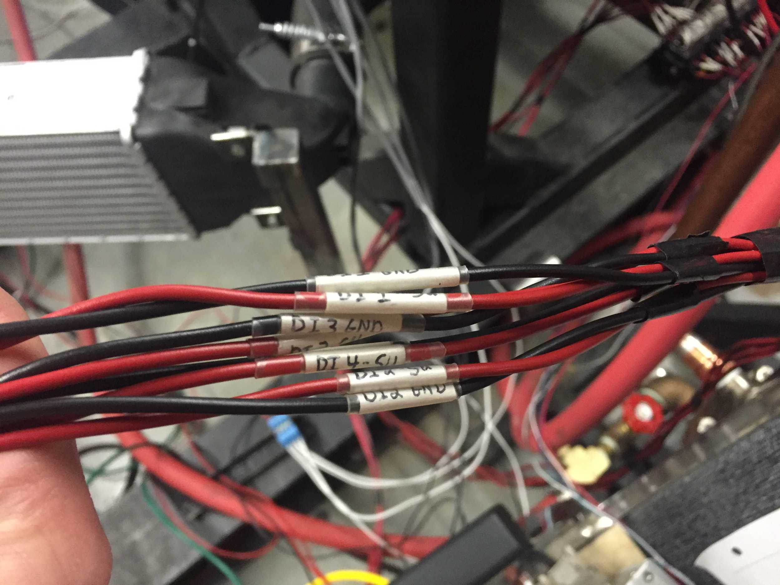 Direct injector wires.