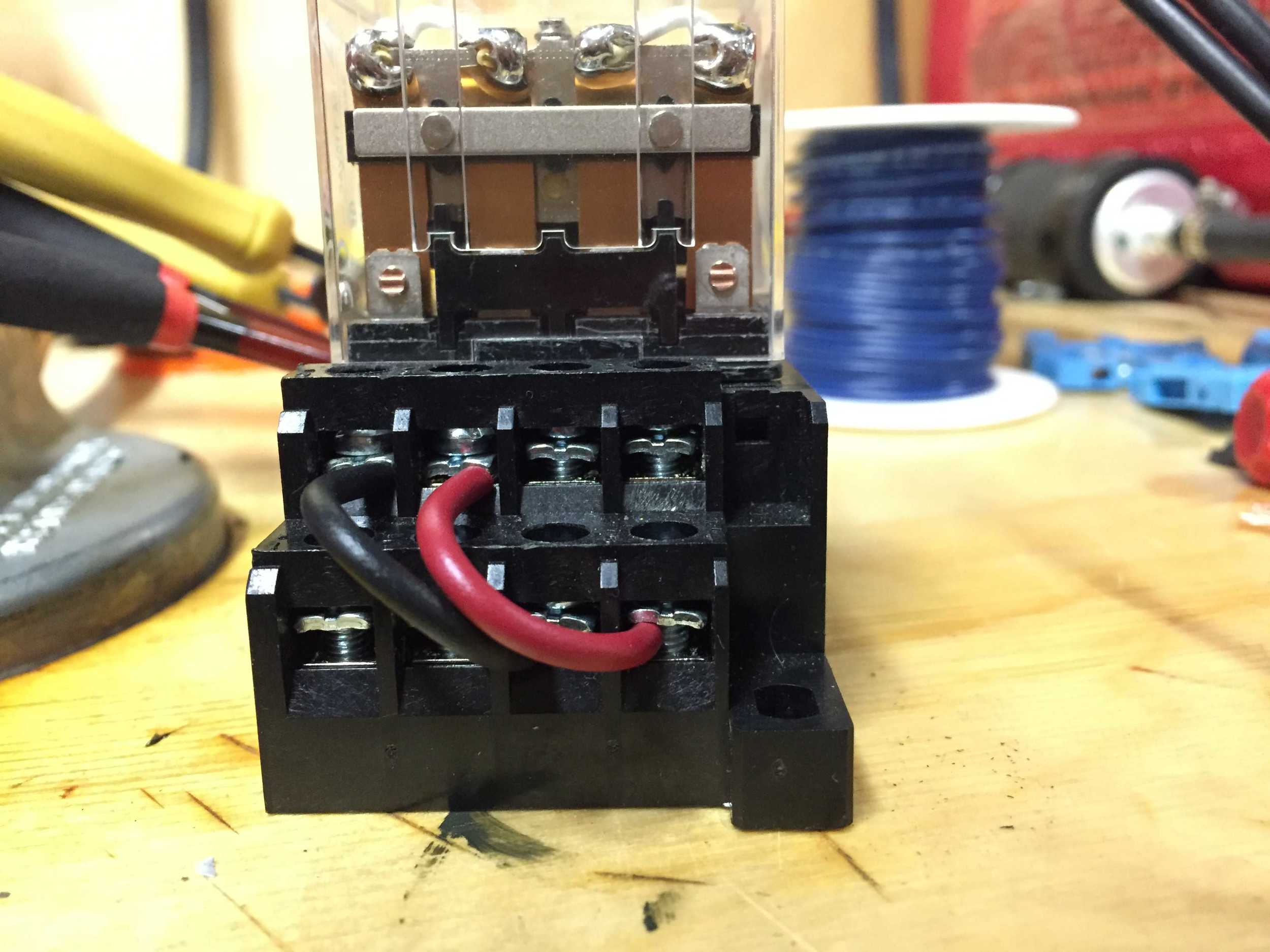What the relays will look like. So when the stock ECU loses control of the injectors, it will begin controlling the top row which will be connected to the dummy injectors.