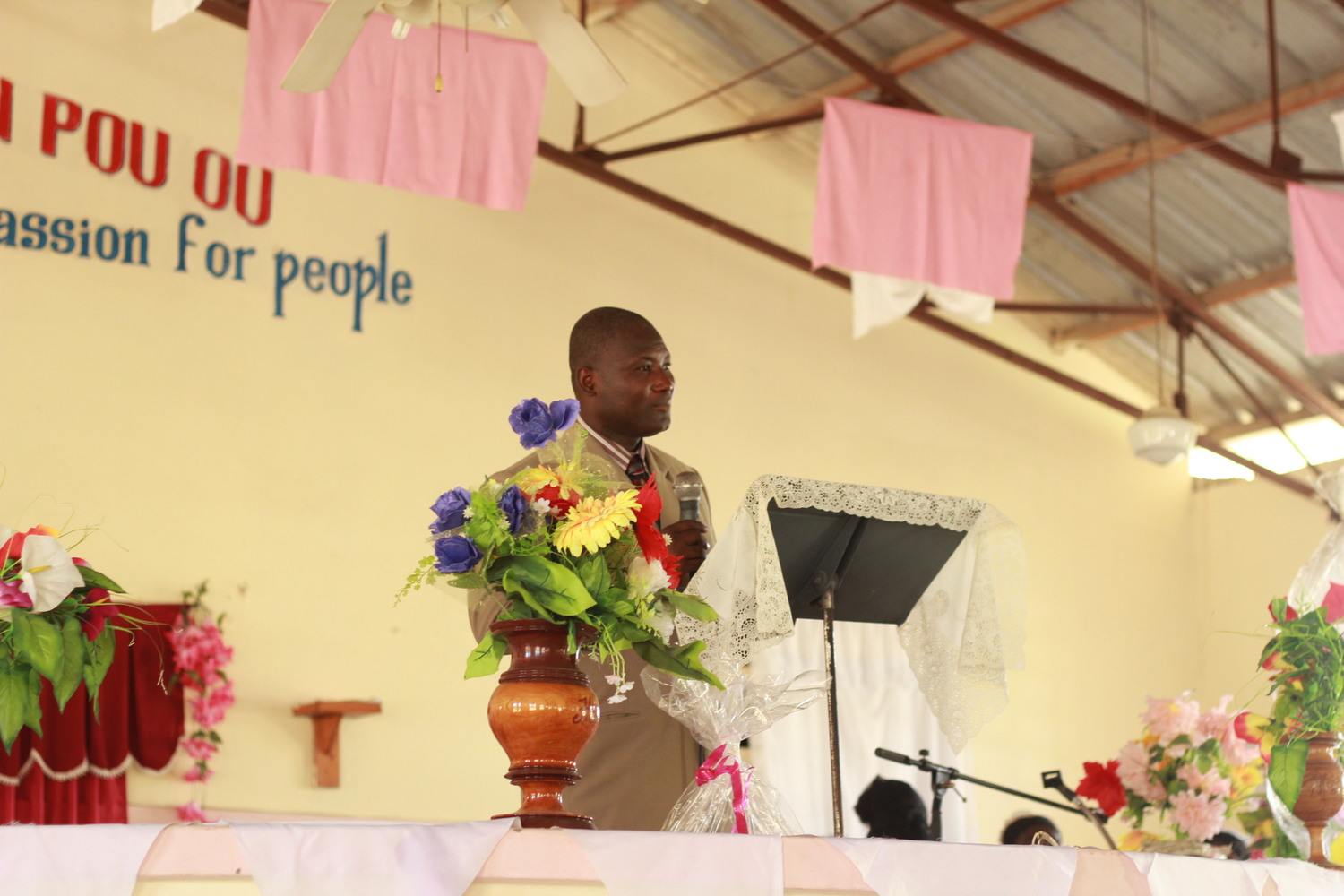 Pastor Julio Jn Gilles In Haiti displays an evident passion for God, and has compassion for people.