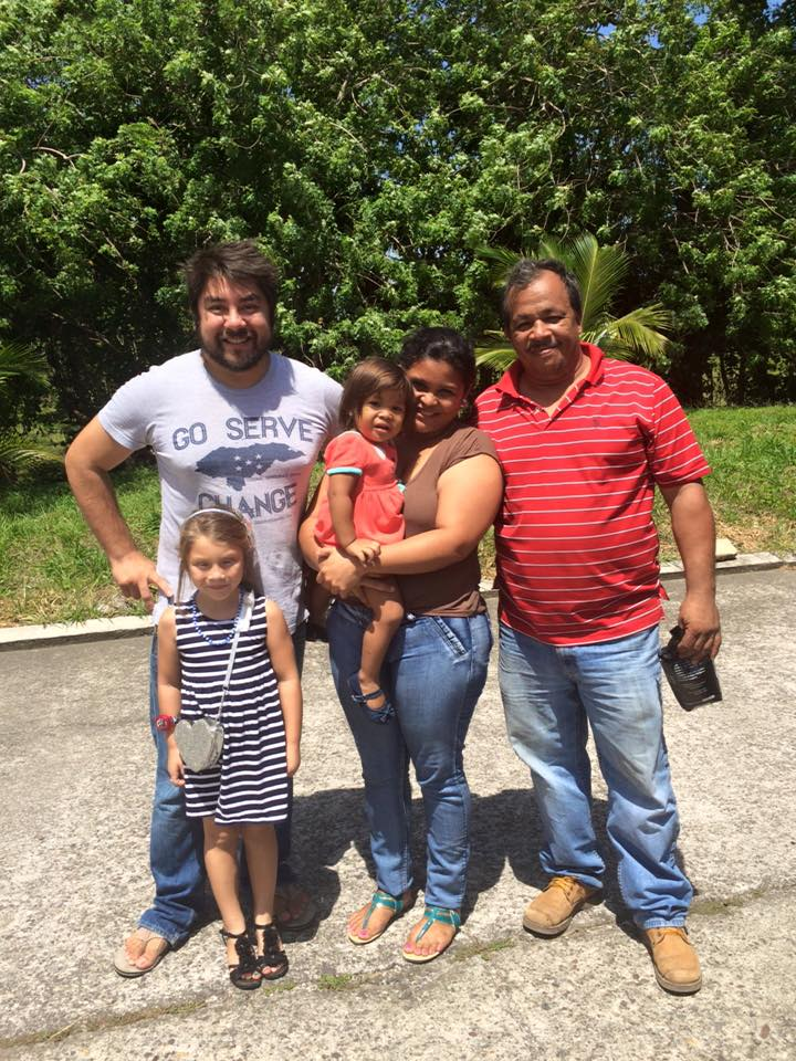 Javier and Saige Mendoza with long term friend/partner Jorge Amador his wife, Janeth, and their daughter Alison