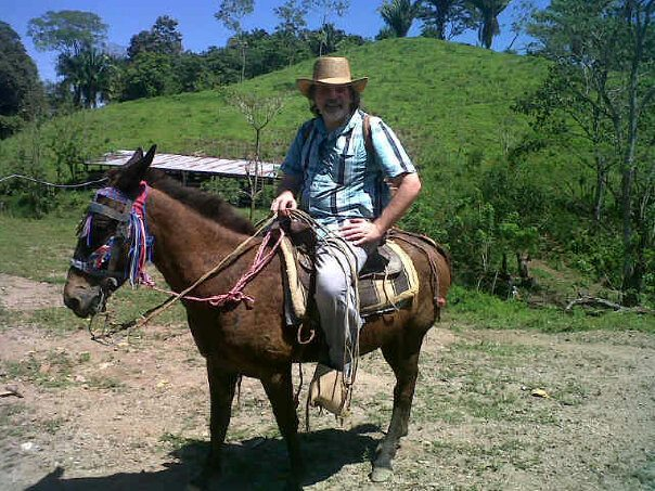 Travis has an unofficial goal to be on a Horse, Mule, or other similar animal every trip out of the country. It is my goal to post a picture of him on said animal every time. This photo courtesy of Douglas Torres.