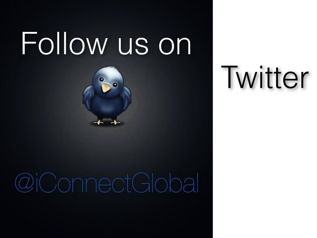 Follow Connect Global on Twitter Please Follow us on twitter @iConnectGlobal  We Would love to hear from you and we appreciate all the RT's   Updates are posted often from @javi_Mendoza and @travismoffitt  Thanks