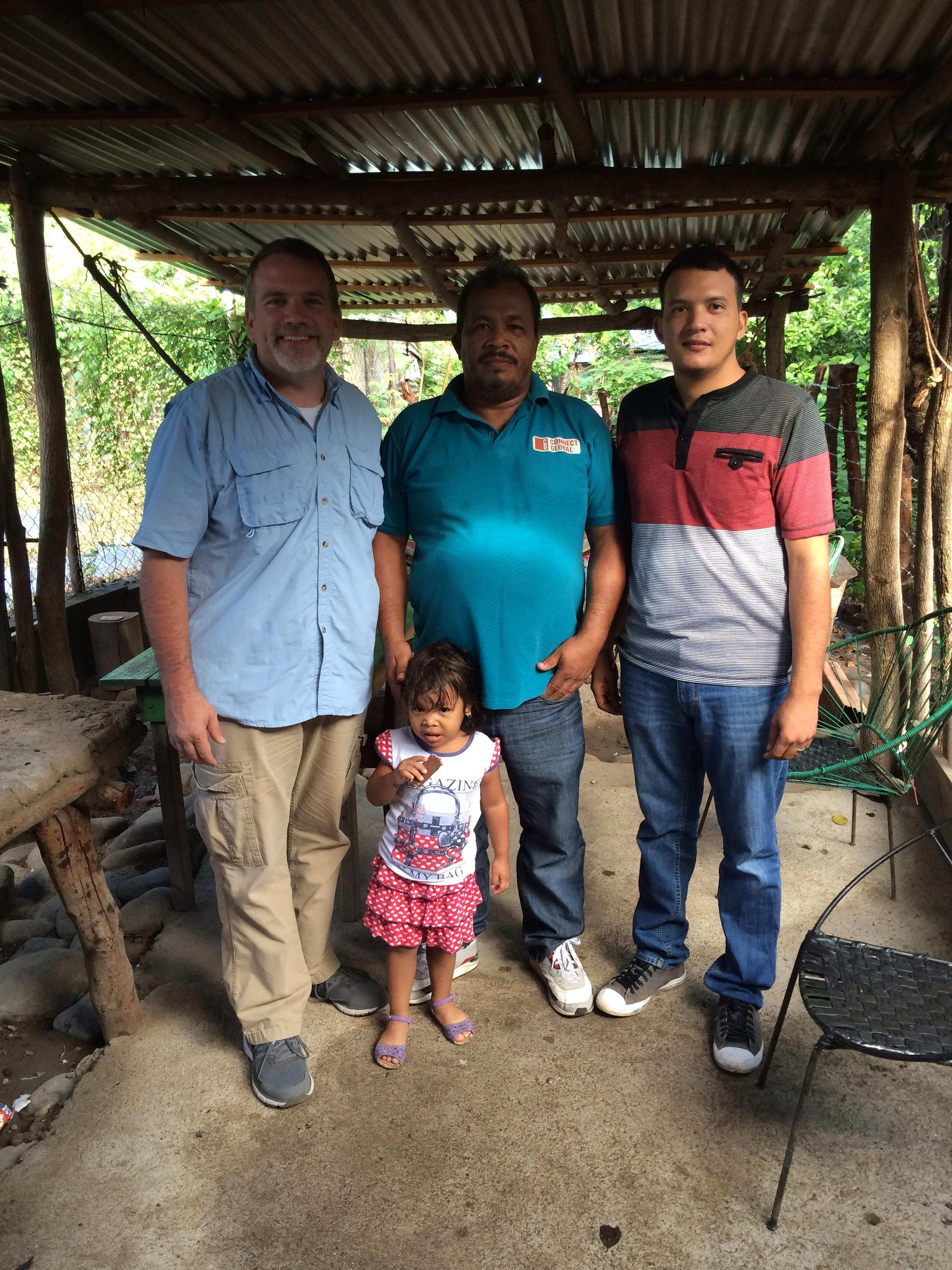 Travis Moffitt, Jorge and Allison Amador,  with Ricardo javier Amador Hernandez, President of the Water Management District in El Tamarindo