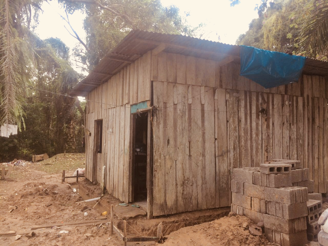 The Connect Global Team loves being able to partner with the local church, elected officials, and others to make community wide improvements.  This is Maria's home before our teams started working on the new one.