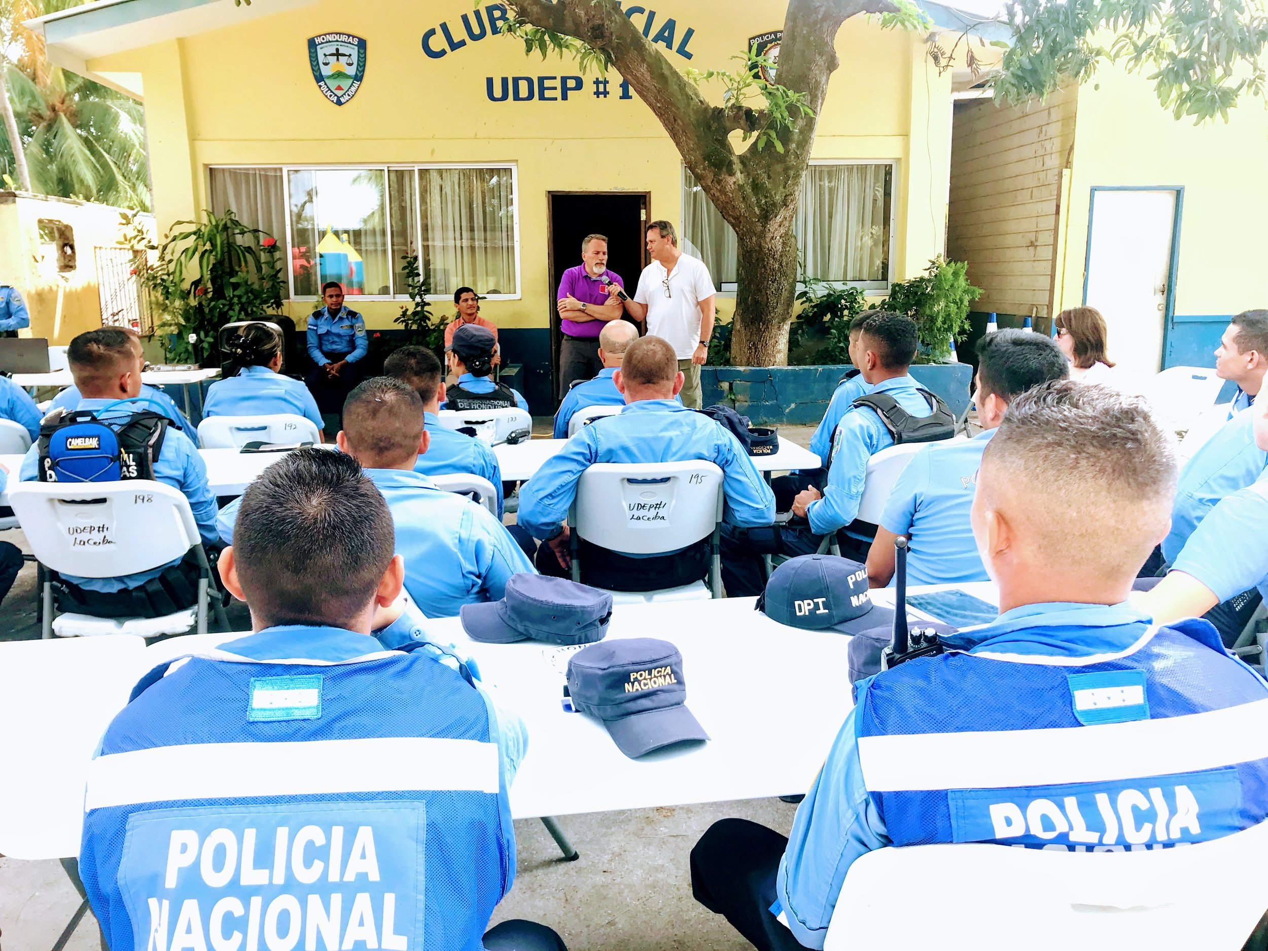 Police officers in La Ceiba Honduras are on the frontline of a very dangerous and complicated community to police.