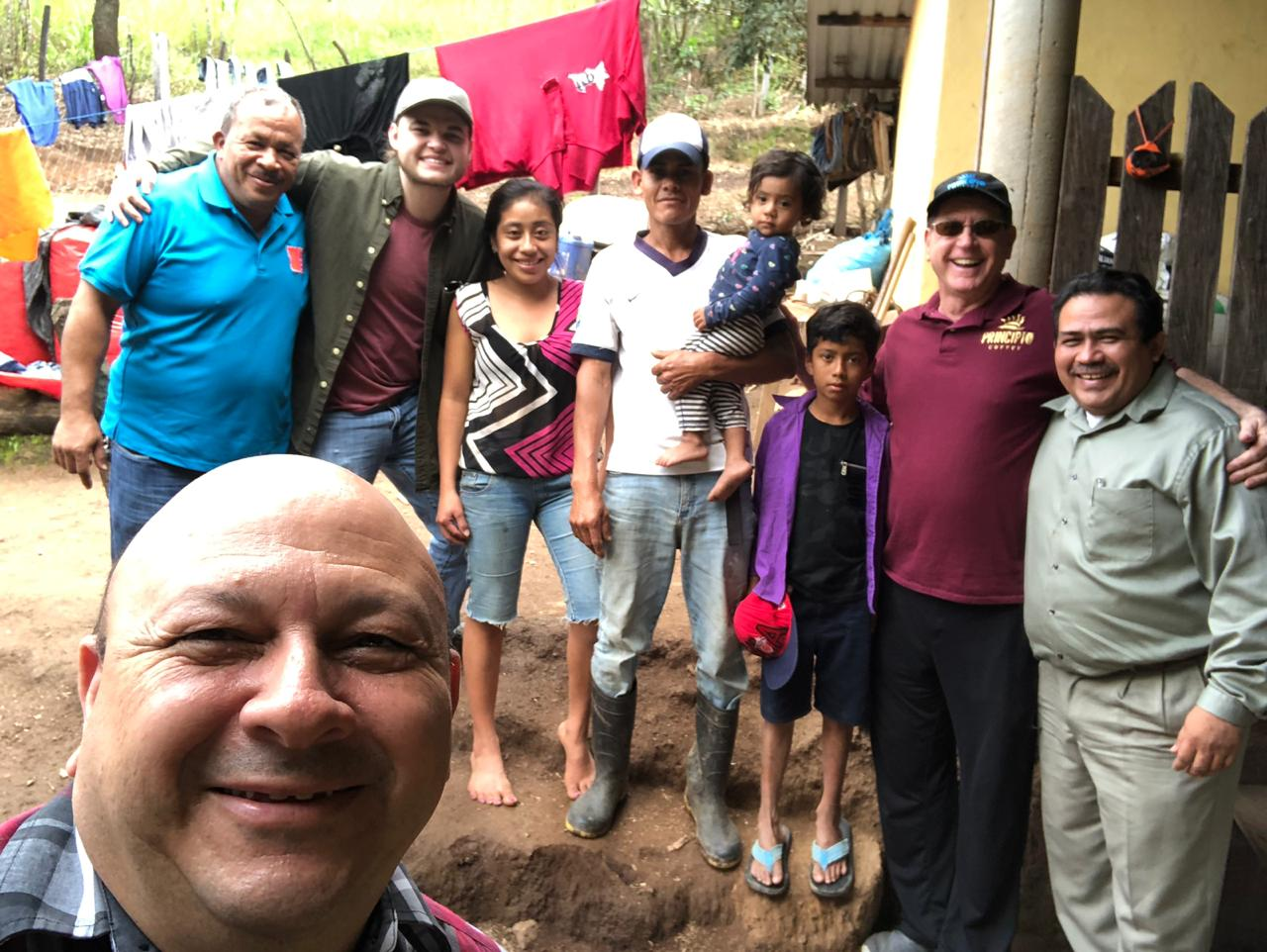 Pastor Allan Lorenzana of Honduras with our National Director, Jorge Amador, with a family in Honduras as they work together with Connect Global to share the love of Jesus and help others to do the same.