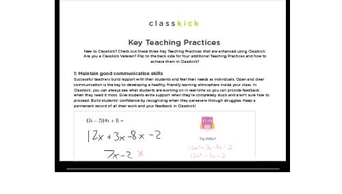 Key Teaching Practices