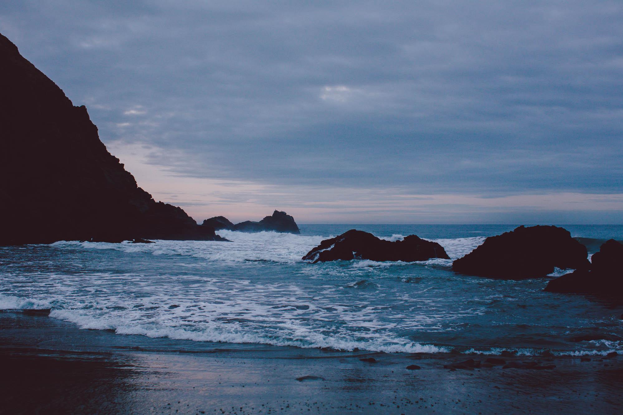 big sur pfieffer beach sunrise engagement portraits