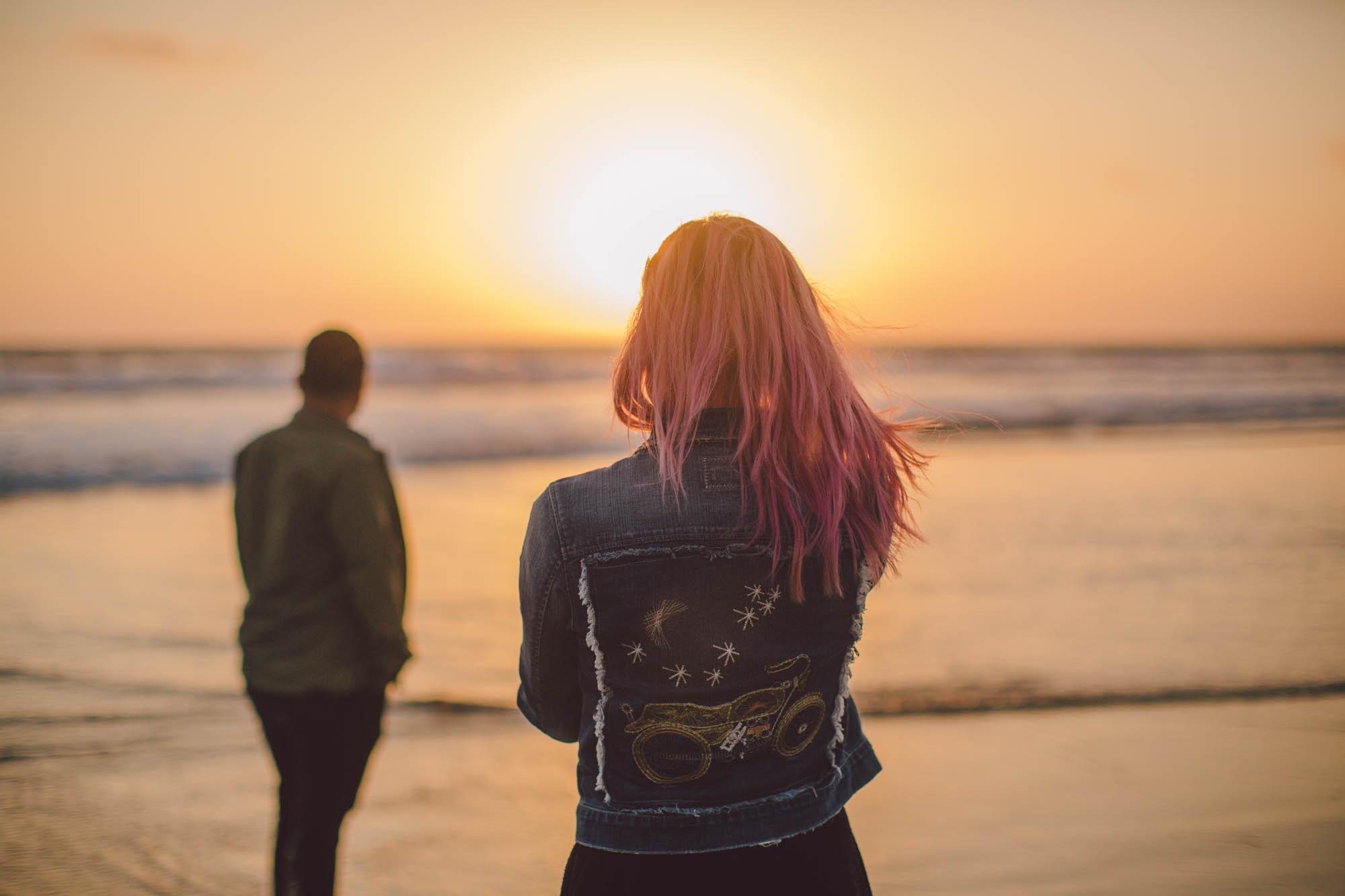 venice beach sunset engagement evangeline lane