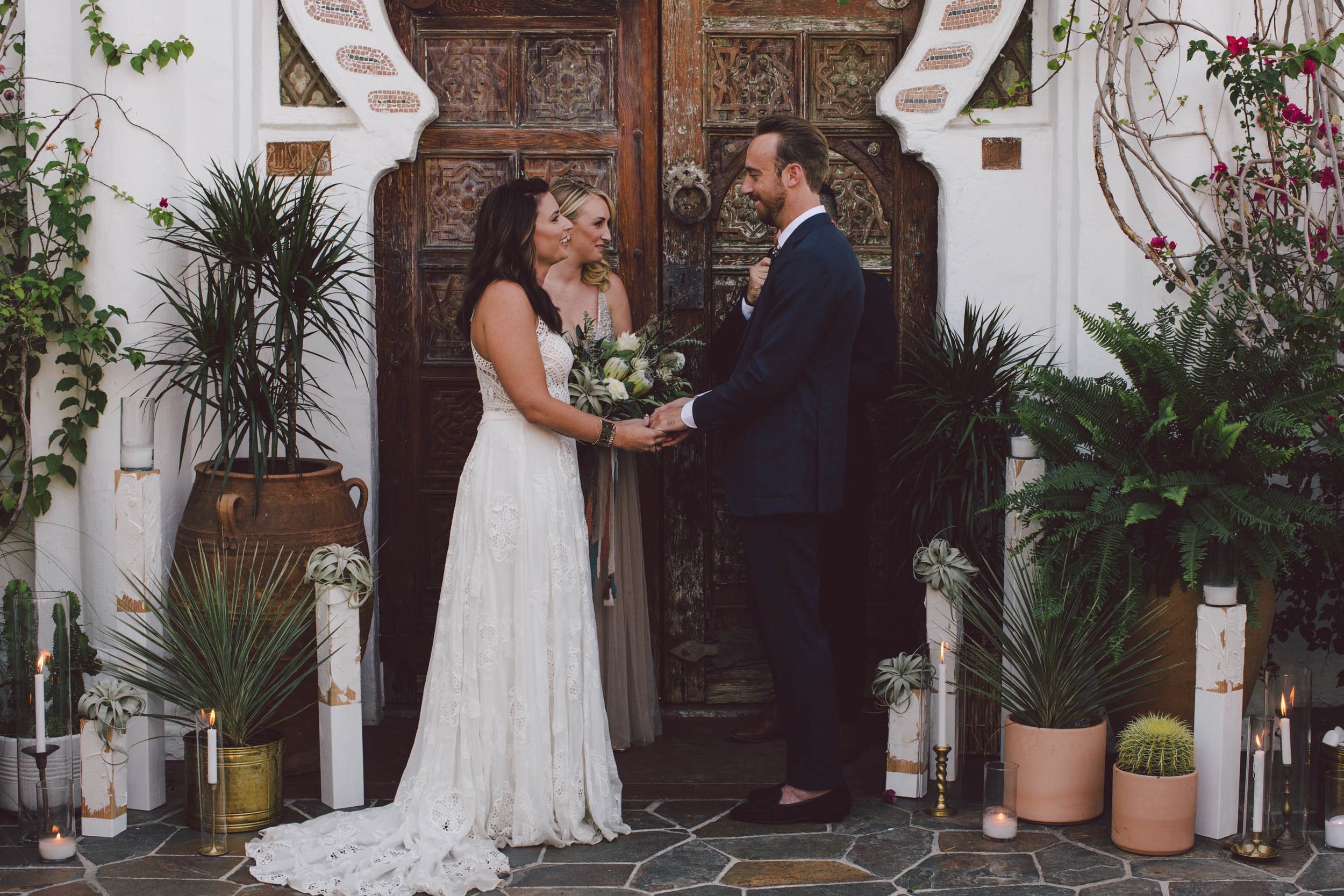 korakia pensione palm springs wedding photography