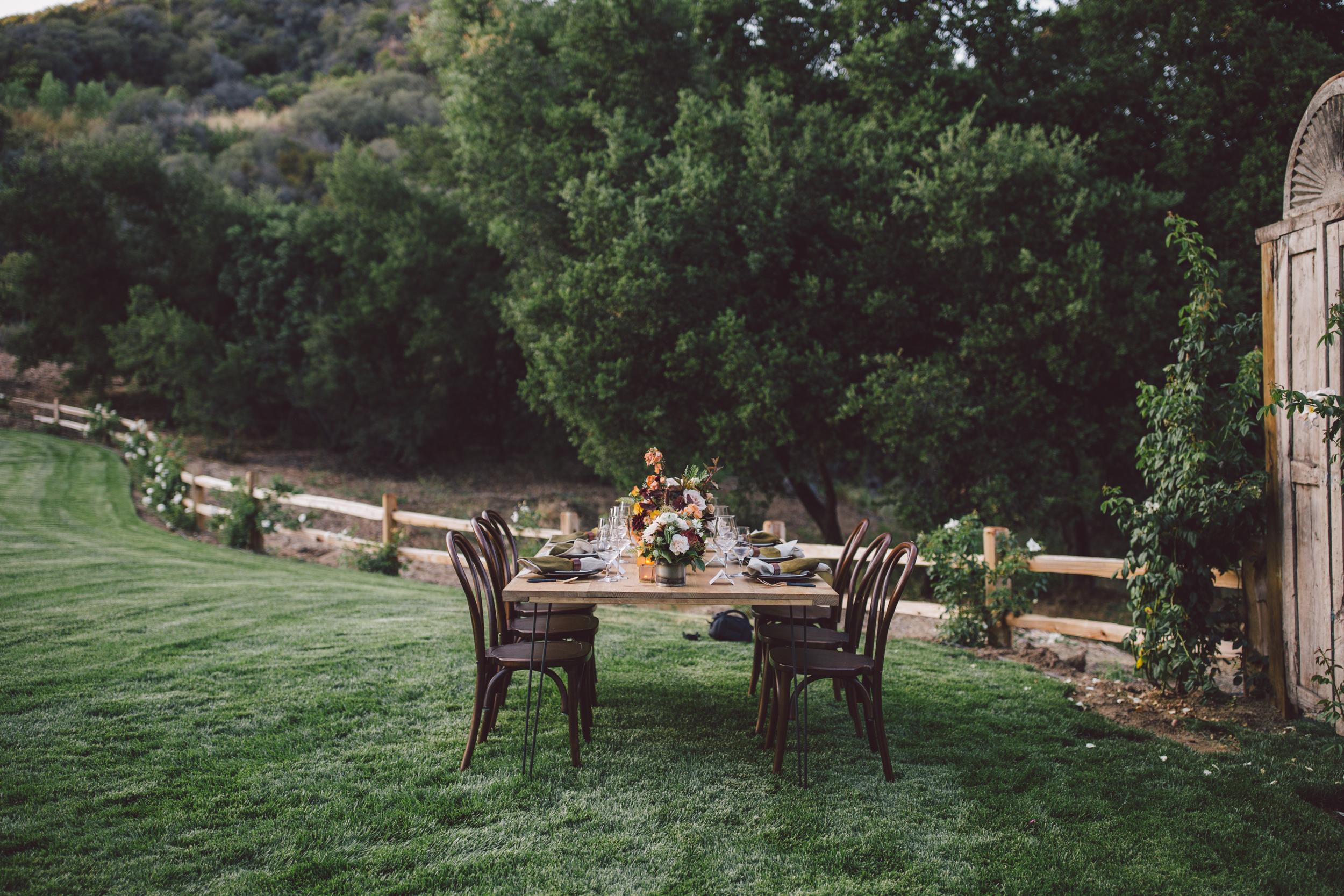farm dinner-california-stonewall ranch-malibu-wedding