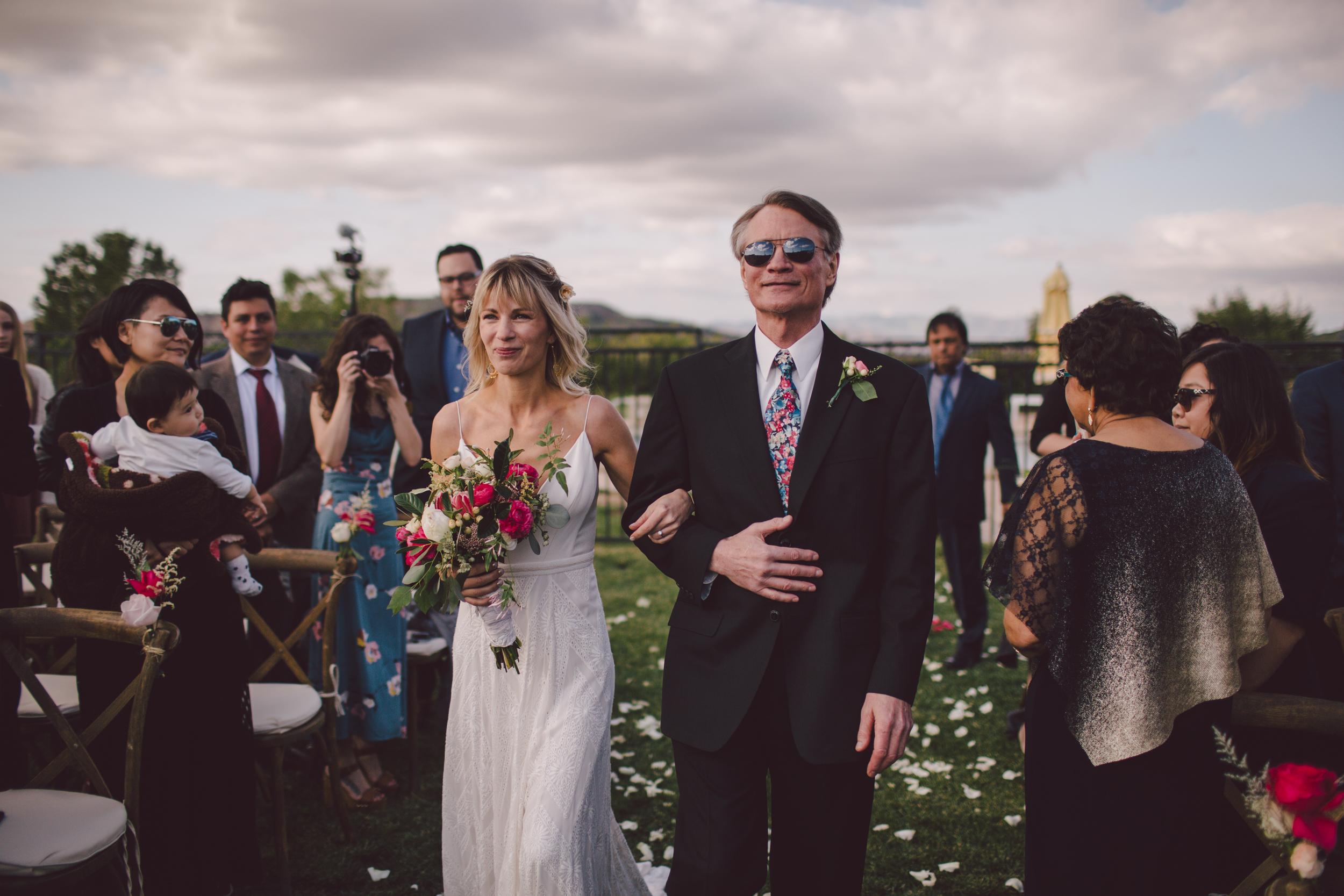 malibu-boho-ceremony-private estate-father of the bride