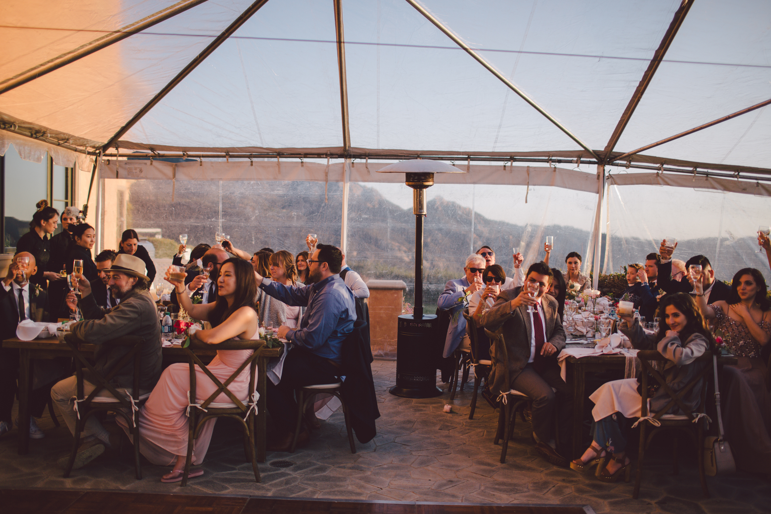 malibu-clear tent-outdoor-wedding-private estate
