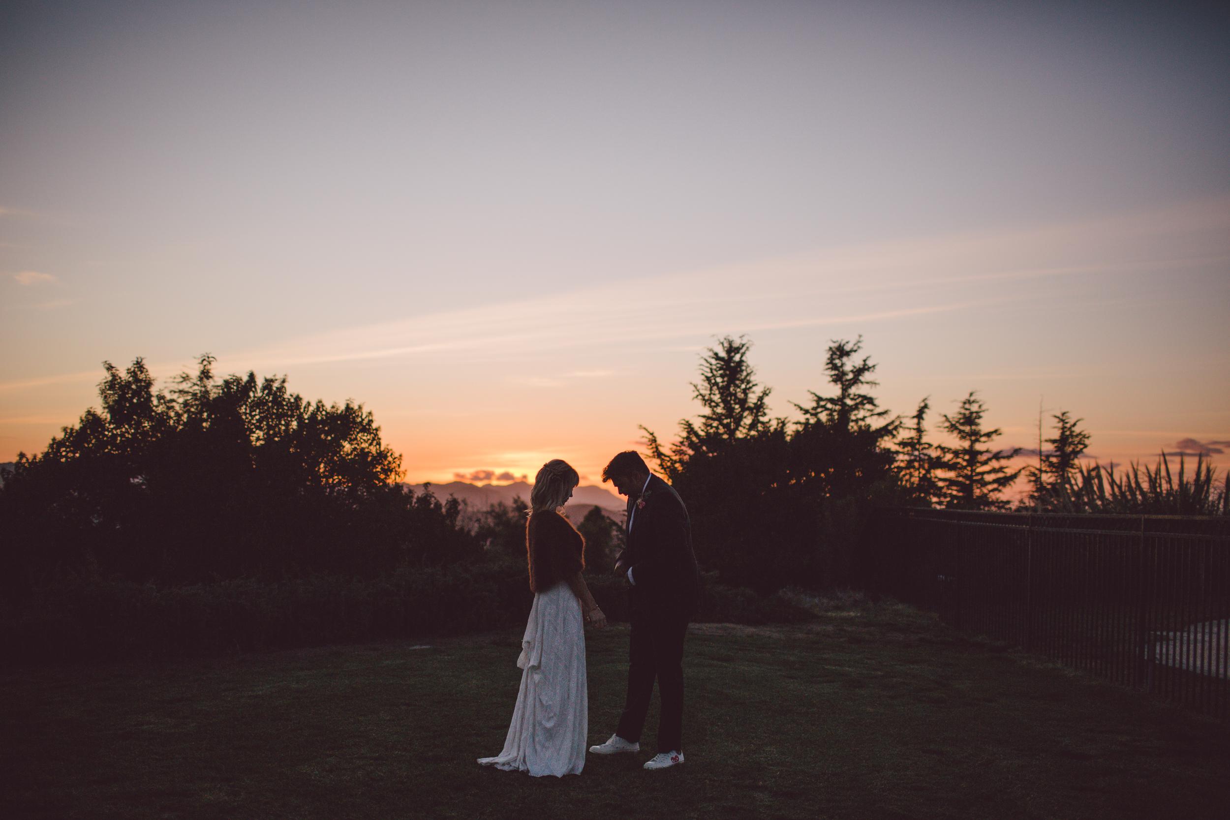 dusk-malibu-wedding-couple-rue de seine-boho