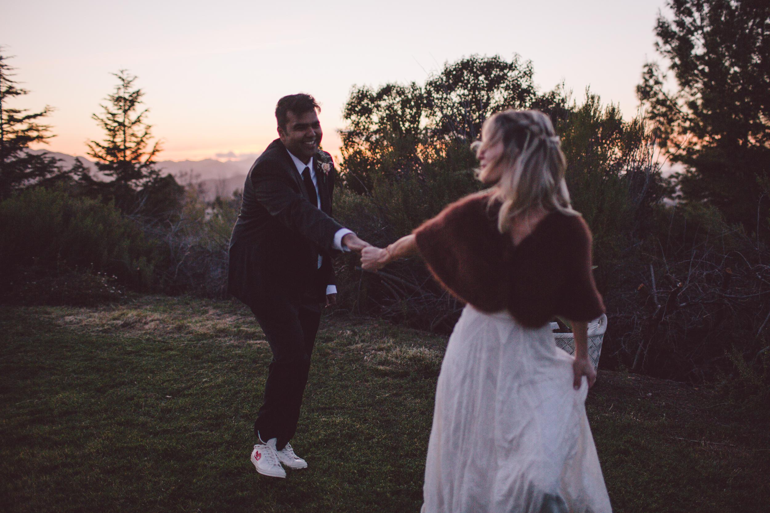 fur jacket-rue de seine-bride-malibu-wedding-portraits